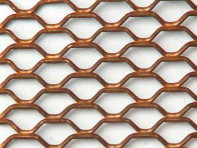 A detailed drawing of copper expanded metal.