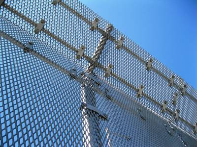 Galvanized expanded metal fencing panels protects in a very high height.