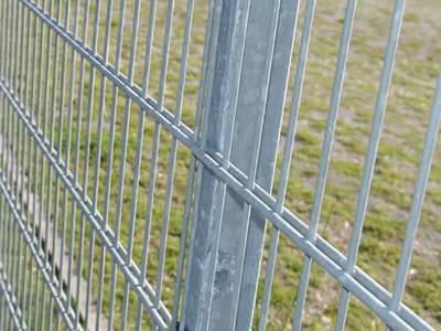 Galvanized double wire fence doubled every horizontal wire.